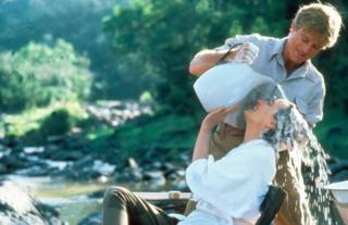 Meryl Streep and Robert Redford in Out Of Africa, 1985