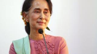 Myanmar's de facto leader Aung San Suu Kyi