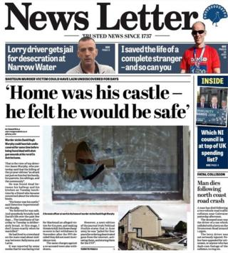 Front page of the News Letter, Thursday 21 February 2019