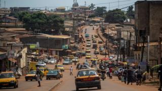 Vue de Yaounde.