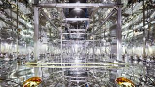 Interior do laboratório Xenon 1T, na região central da Itália