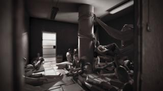 एल हेलिकॉएड के एक कमरे की तस्वीर