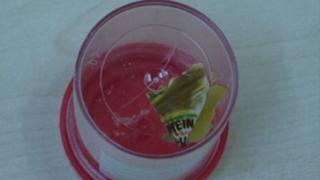 Sachet in container