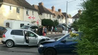 Tunbridge Wells crash scene