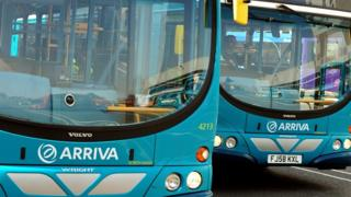 Two Arriva buses