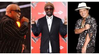 CeeLo Green Will.I.Am from The Black Eyed Peas and Bruno Mars.