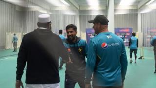 ट्रेनिंग सत्र में पाकिस्तानी टीम