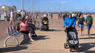 Skegness seafront in May