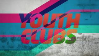 Newsround graphic featuring the words youth clubs