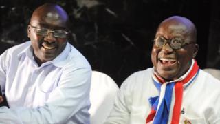 Ghana vice-president Dr. Mahamudu Bawumia and president Nana Akufo-Addo