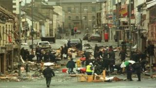 Scene of the Omagh bombing, the worst atrocity of Northern Ireland's Troubles