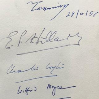 The signatures in the book
