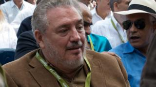 Fidel Castro Diaz-Balart at an event in