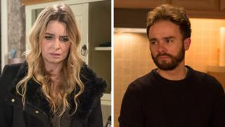 Emma Atkins and Jack P Shepherd