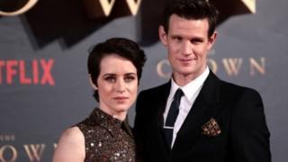 Claire Foy y Matt Smith