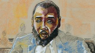 Court sketch of Mohammed Jabbateh