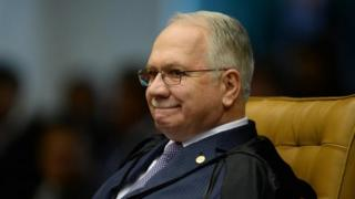 Edson Fachin during a court session in Brasilia on February 1, 2017.