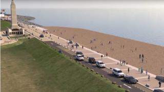 The beach at Southsea Common