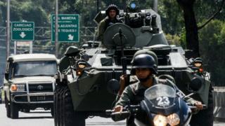 Un operativo militar se desplegó en la zona de El Junquito, a las afueras de Caracas.