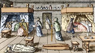 Жертвы бубонной чумы в Лондоне, XVII в.