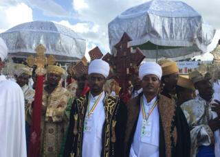 Priests celebrate Meskel