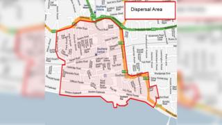 Southend Dispersal Area map