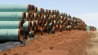 Pipe for the stalled Canada-to-Texas Keystone XL pipeline
