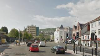 The junction of Broadway and High Street in Pontypridd