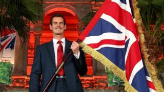 Tennis player Andy Murray of Great Britain is announced as the flag bearer for Team GB
