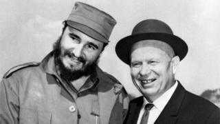 Fidel Castro y Nikita Kruschev