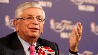 David Stern at a press conference in 2013