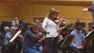 Nicola Benedetti at the final rehearsal of the RSNO before the US tour