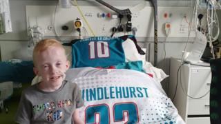 Ice hockey: Belfast Giants give boy with genetic disorder 'reason to fight'