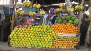 Fruit stall in Asmara