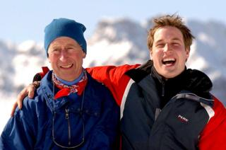 Prince of Wales with his eldest son Prince William