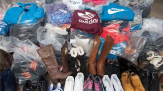 fake goods seized in Torfaen