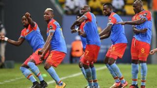 """Les joueurs congolais ont fait la sensation lors de la dernière CAN, avec le """"fimbou"""", la chicotte."""