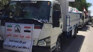 کاروان کمکهای نیروهای حشد الشعبی
