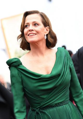 Sigourney Weaver on the red carpet