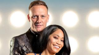 Antony Cotton with Brandee Malto