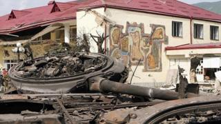 Разрушенный дом в Цхингвали