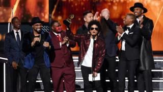 The Stereotypes got on stage with Bruno Mars at the Grammys