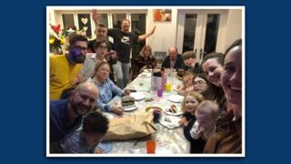 Ben's family celebrate his wife's birthday