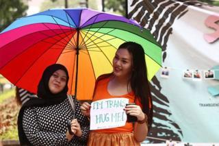 Aktivis transgender di Jakarta