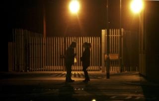 Prostitute and client near Hessle Road, Hull