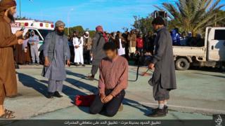 Public flogging in Sirte