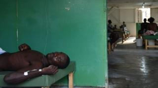 his file photo taken on October 22, 2016 shows Mason, with cholera symptoms, as he receives medical attention at Saint Antoine Hospital of Jeremie, Haiti.