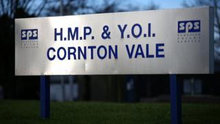 Cornton Vale prison sign