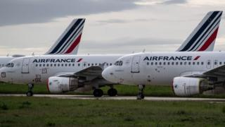 Parked Air France aircraft
