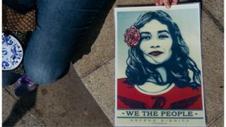 Плакат с женского марша протеста в Макао